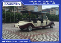 Luxury CE Approved Electric Vintage Cars 8 Person Golf Cart Yellow Colour