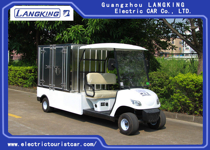 2 Seater Electric Utility Carts , Electric Food Cart With Customized Cargo Box